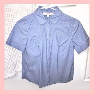 🆕 LOFT Chambray Short Sleeve Button-down / XSP